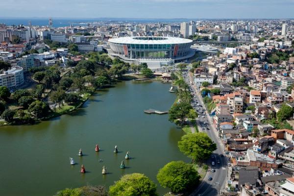 Imagen del estadio Arena Fonte Nova de Salvador de Bahía. Foto: Portal da Copa